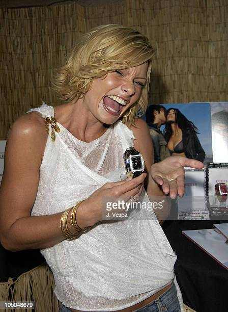 Jaime Pressly with a Guess Watch during The 2002 Teen Choice Awards Backstage Creations Talent Retreat Day 2 at Universal Amphitheater in Universal...