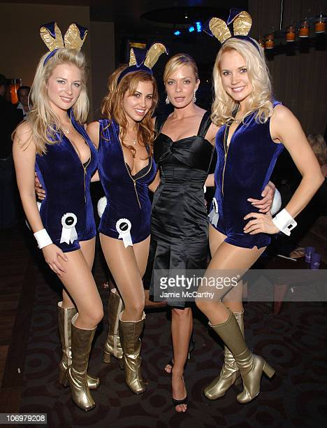 Jaime Pressly with Playboy Playmates during The Crown Royal Playboy Club on Derby Eve Hosted by The 2006 Playboy Playmate of The Year at Felt...