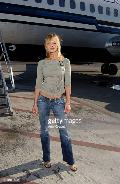 Jaime Pressly with The Stuff Jet during Stuff Jet Takes Off For Stuff Magazine Casino Weekend At The Palms at Long Beach Airport in Long Beach...