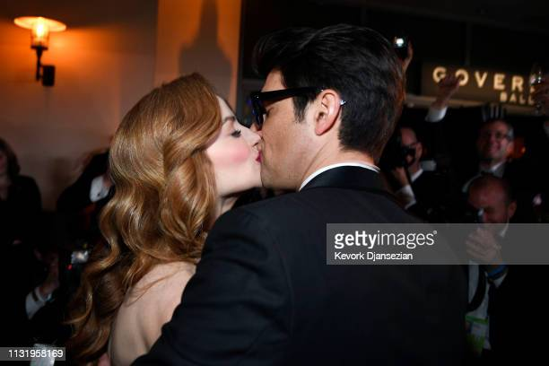Jaime Ray Newman and Guy Nattiv attend the 91st Annual Academy Awards Governors Ball at Hollywood and Highland on February 24 2019 in Hollywood...