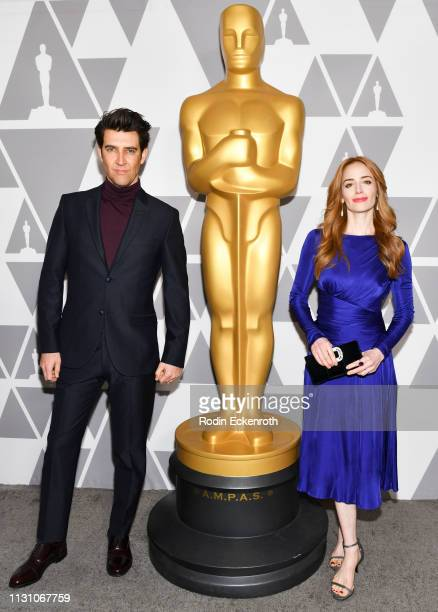 Jaime Ray Newman and Guy Nattiv attend the 91st Oscars Oscar Week Shorts at the Academy of Motion Picture Arts and Sciences on February 20 2019 in...