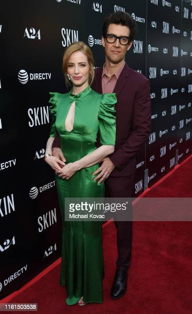 Jaime Ray Newman and Guy Nattiv attend the Los Angeles Special Screening of SKIN at ArcLight Hollywood on July 11 2019 in Hollywood California
