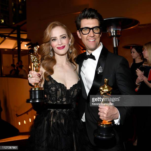 Jaime Ray Newman and Guy Nattiv winners of the Live Action Short Film award for 'Skin' attend the 91st Annual Academy Awards Governors Ball at...