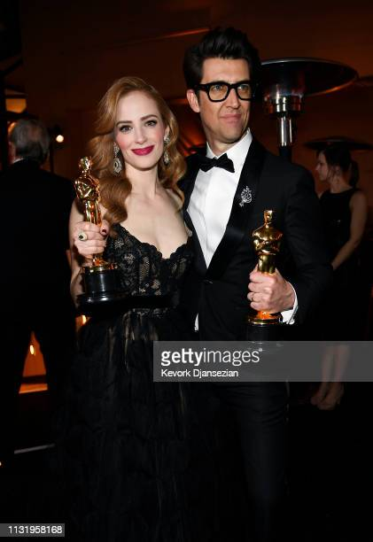 Jaime Ray Newman and Guy Nattiv winners of the Short Film award for 'Skin' attend the 91st Annual Academy Awards Governors Ball at Hollywood and...