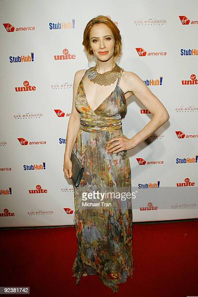 """Jaime Ray Newman arrives to the 3rd Annual """"Rock The Kasbah"""" fundraising gala held at Vibiana on October 26, 2009 in Los Angeles, California."""