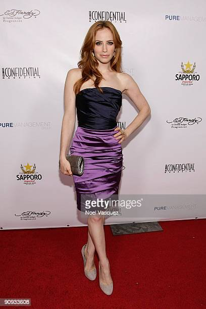 Jaime Ray Newman attends Los Angeles Confidential magazine's annual preEmmy party hosted by Heidi Klum and Niche Media CEO Jason Binn held at a...
