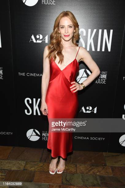 Jaime Ray Newman attends the Skin New York Screening at The Roxy Cinema on July 24 2019 in New York City