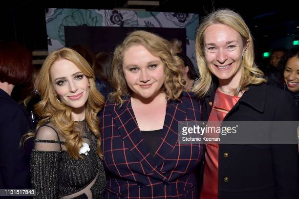 Jaime Ray Newman Danielle Macdonald and Celine Rattray attend the 12th Annual Women in Film Oscar Nominees Party Presented by Max Mara with...
