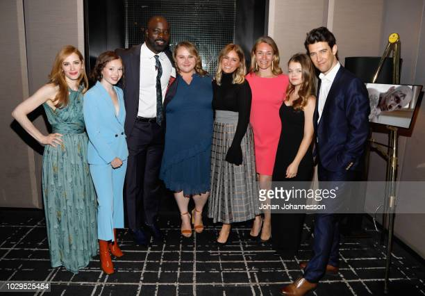 Jaime Ray Newman Zoe Colletti Mike Colter Danielle Macdonald Chelsea Brown Celine Rattray Kylie Rogers and Guy Nattiv attend the SKIN after party...