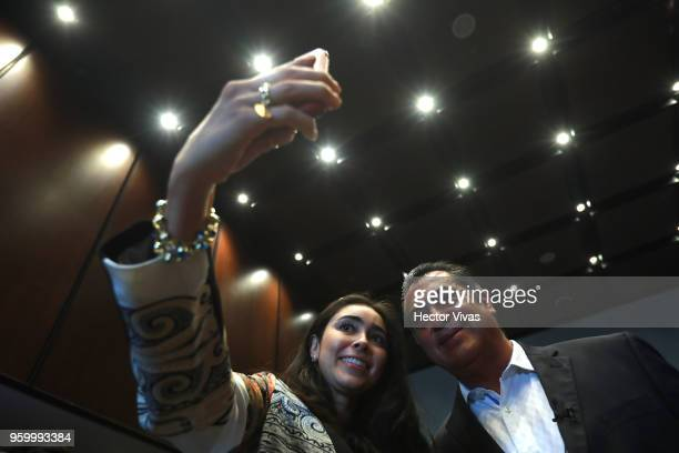 Jaime Rodriguez Calderon independent presidential candidate poses for pictures during a conference as part of the 'Dialogues Mexico Manifesto' Event...