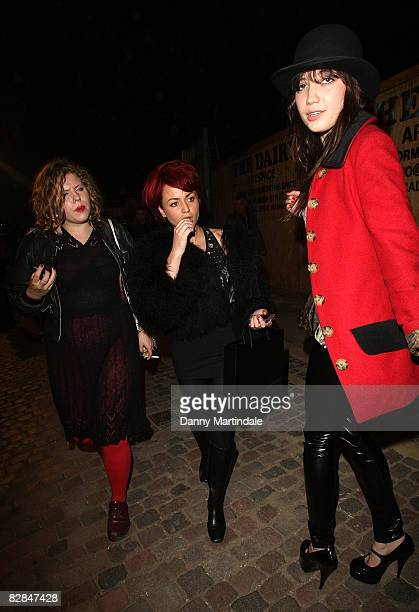 Jaime Winstone and Daisy Lowe departs at the Gilles fashion show at the The Diary on September 16 2008 in London England