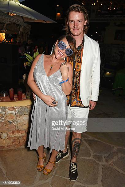 Jaime Winstone and James Suckling attend the Groucho's 30th birthday party at Pikes on August 22 2015 in Ibiza Spain