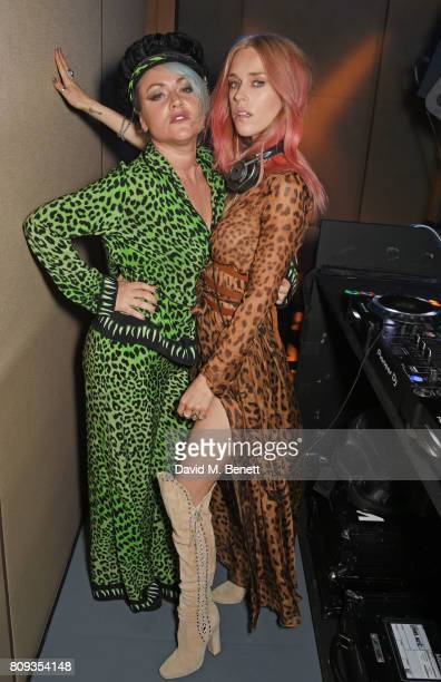 Jaime Winstone and Mary Charteris attend the Warner Music Group and British GQ Summer Party in partnership with Quintessentially at Nobu Hotel...