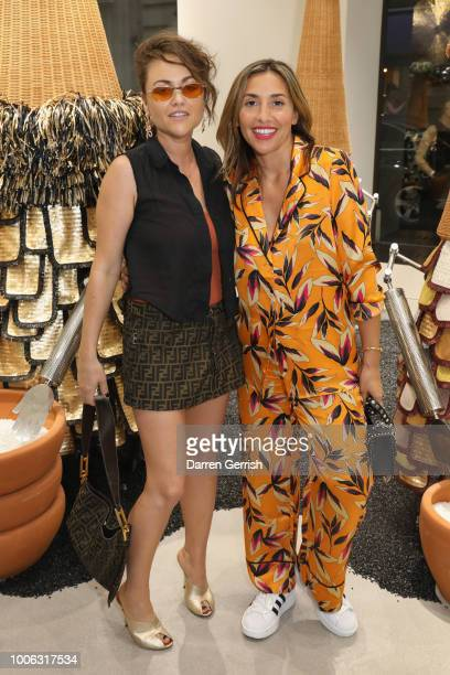 Jaime Winstone and Melanie Blatt attend the GENTLE MONSTER Flagship Store launch at Argyll Street on July 27 2018 in London England