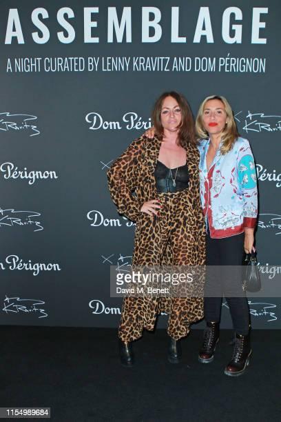 Jaime Winstone and Melanie Blatt attend the Lenny Kravitz & Dom Perignon 'Assemblage' exhibition, the launch Of Lenny Kravitz' UK Photography...