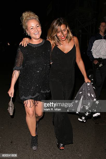 Jaime Winstone and Melanie Blatt attending the Ara Vartanian store opening party on September 7 2016 in London England