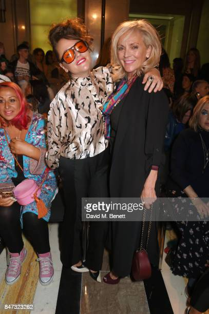 Jaime Winstone and mother Elaine Winstone attend the Pam Hogg SS18 catwalk show at Freemasons Hall during London Fashion Week on September 15 2017 in...