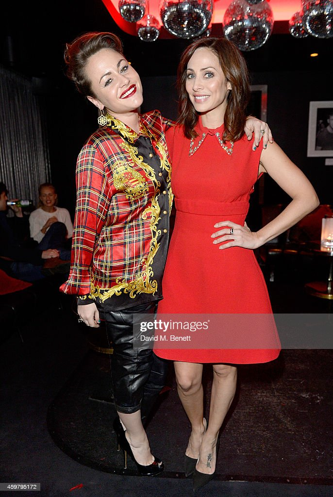 Jaime Winstone and Natalie Imbruglia attend the W London - Leicester Square & (RED) World AIDS Day Fundraising Party at Wyld on December 1, 2014 in London, England.