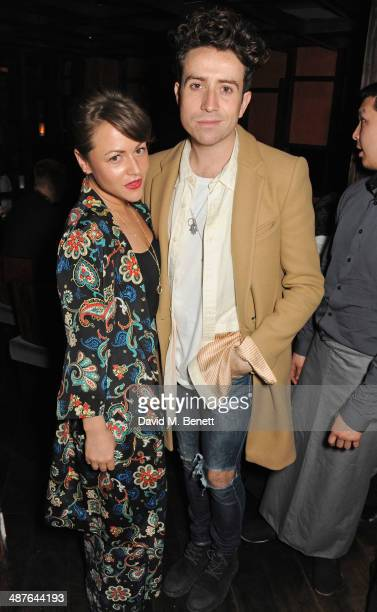 Jaime Winstone and Nick Grimshaw attend Fran Cutler's birthday dinner at Bo Lang on May 1 2014 in London England