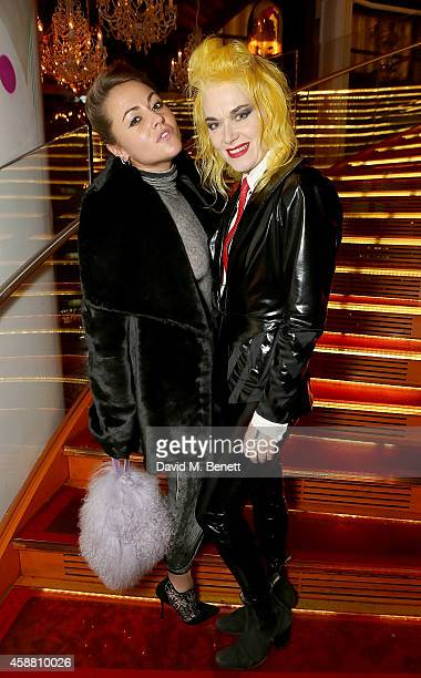 Jaime Winstone and Pam Hogg attend as Sushisamba celebrates its second anniversary with a performance by Lily Allen and a VIP party at Sushi Samba on...