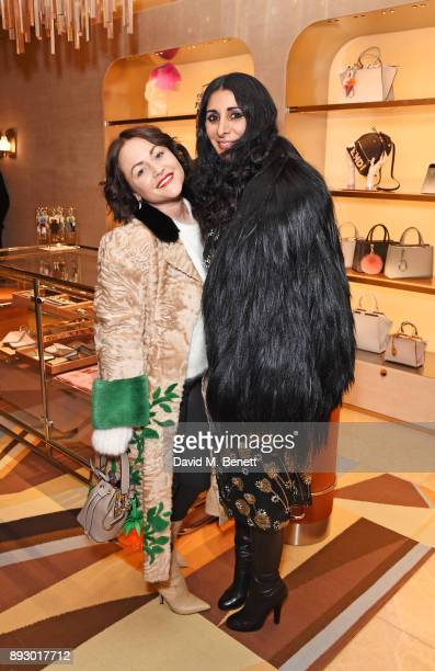 Jaime Winstone and Serena Rees attend the FENDI Sloane Street boutique opening on December 14 2017 in London England