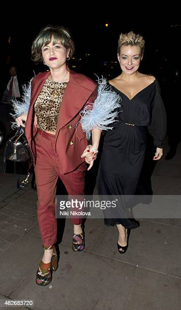 Jaime Winstone and Sheridan Smith are seen arriving at the Ace hotelShorditch on February 2 2015 in London England