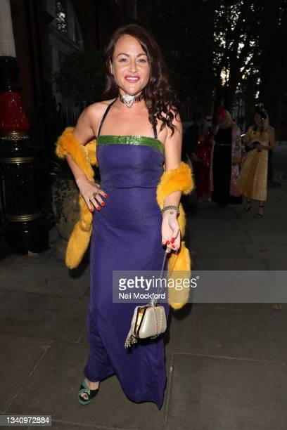 Jaime Winstone arrives at The Icon Ball during London Fashion Week September 2021 at The Landmark Hotel on September 17, 2021 in London, England.