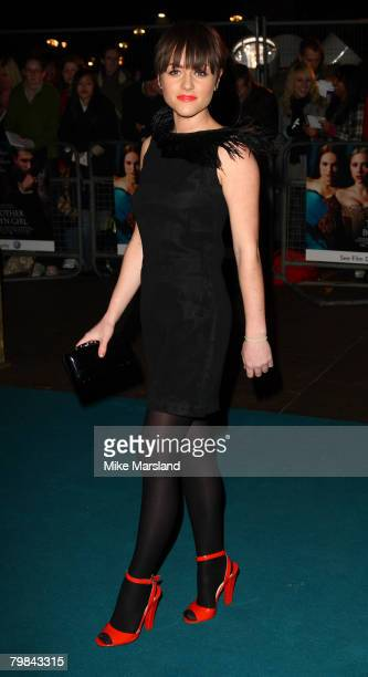 Jaime Winstone arrives at the Royal Premiere of The Other Boleyn Girl at the Odeon Leicester Square on February 19 2008 in London England