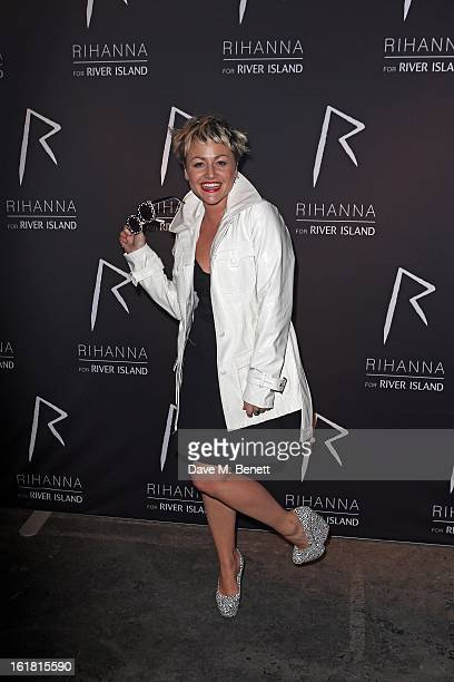 Jaime Winstone arrives for the Rihanna for River Island fashion show during London Fashion Week Fall/Winter 2013/2014 at the Old Sorting Office on...