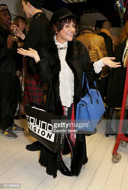 Jaime Winstone attends a cocktail party at vintage clothing boutique Found And Vision on November 7 2013 in London England