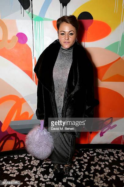 Jaime Winstone attends as Sushisamba celebrates its second anniversary with a performance by Lily Allen and a VIP party at Sushi Samba on November 11...
