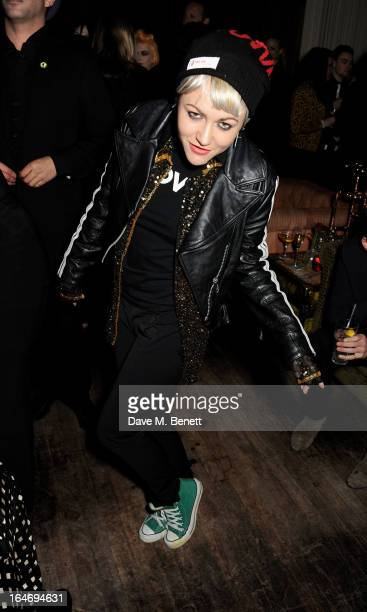 Jaime Winstone attends the ABSOLUT Elyx launch party at The Box Soho on March 26 2013 in London England