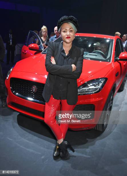 Jaime Winstone attends the allnew Jaguar EPace reveal at ExCel on July 13 2017 in London England Jaguar's newest model was launched with an epic...