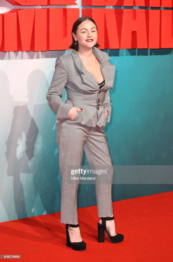 Jaime Winstone attends the European premiere of 'Tomb Raider' at Vue West End on March 6, 2018 in London, England.