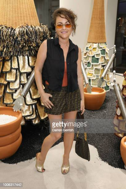 Jaime Winstone attends the GENTLE MONSTER Flagship Store launch at Argyll Street on July 27 2018 in London England