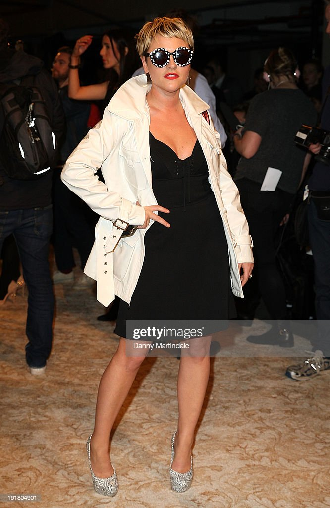 Jaime Winstone attends the House of Holland show during London Fashion Week Fall/Winter 2013/14 at Brewer Street Car Park on February 16, 2013 in London, England.