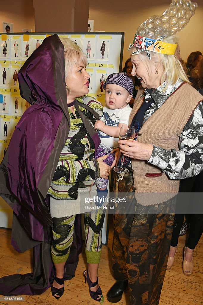 Jaime Winstone, baby Ray and Dame Vivienne Westwood pose