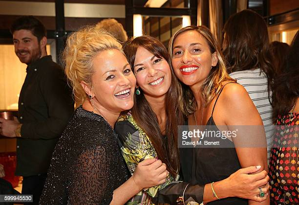Jaime Winstone Brigitta Spinocchia Ara Vartanian and Melanie Blatt attend the Ara Vartanian store opening party on Bruton Place on September 7 2016...