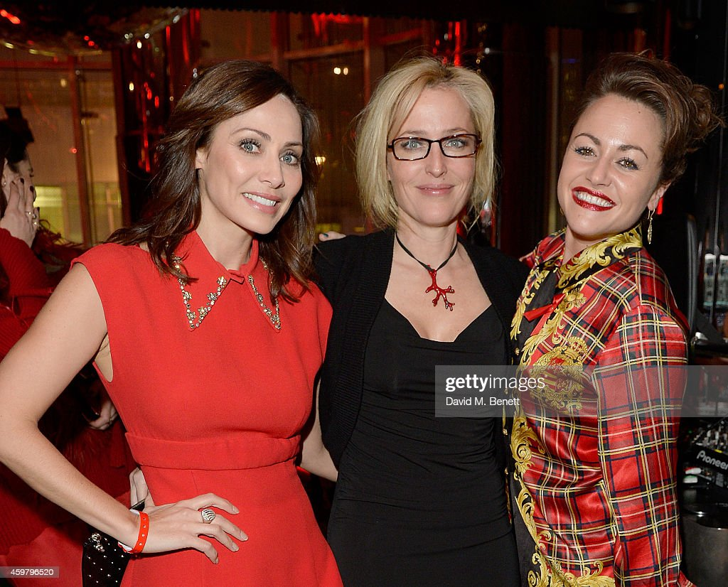 Jaime Winstone, Gillian Anderson and Natalie Imbruglia attend the W London - Leicester Square & (RED) World AIDS Day Fundraising Party at Wyld on December 1, 2014 in London, England.