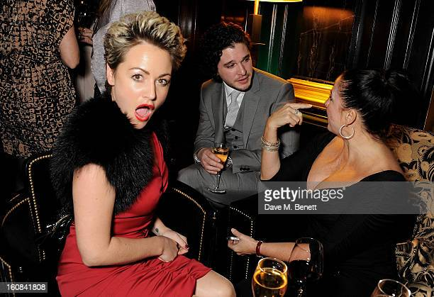 Jaime Winstone Kit Harington and Fran Cutler attend the PreBAFTA Party hosted by EE and Esquire ahead of the 2013 EE British Academy Film Awards at...