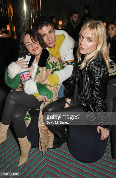 Jaime Winstone Kyle De'Volle and Jana Sascha Haveman attend an after party celebrating the FENDI Sloane Street Boutique opening at Isabel on December...