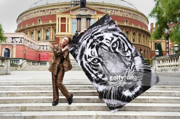 Dan Olson launches 'Eye on the Tiger' by Save Wild Tigers the world's largest ever wild tiger photography exhibition at the Royal Albert Hall on...