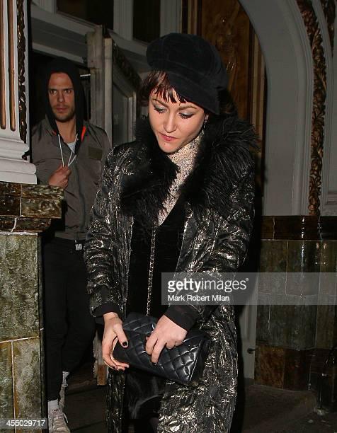 Jaime Winstone leaving the Paradise bar on December 10 2013 in London England