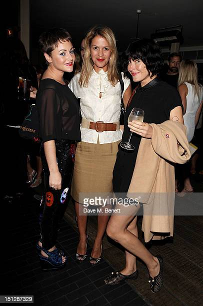 Jaime Winstone Lisa Moorish and Tabitha Denholm attend an evening with author EL James launching 'Fifty Shades of Grey The Classical Album' with EMI...
