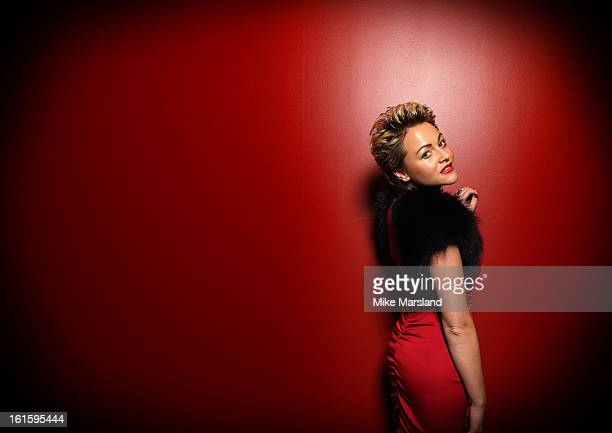 Jaime Winstone poses in the portrait studio at the Pre-Bafta party hosted by EE and Esquire ahead of the 2013 EE British Academy Film Awards at The...