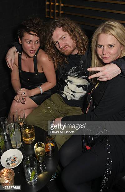 Jaime Winstone, Same Old Sean and Lee Starkey attend Sam McKnight's 60th Birthday Party at Tramp on May 14, 2015 in London, England.