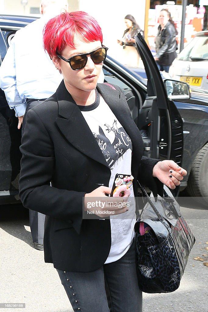 Jaime Winstone seen arriving at Riverside Studios to film Celebrity Juice on May 8, 2013 in London, England.