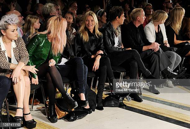 Jaime Winstone Sharna Liguz Annabelle Neilson Kate Moss Jamie Hince abd James Brown attends the James Small Menswear Spring/Summer 2012 runway show...