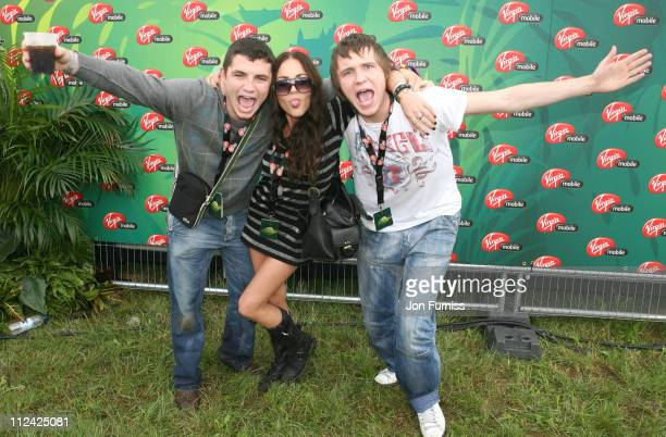 Jaime Winstonee and Guests in the Virgin Mobile Louder Lounge at the V Festival