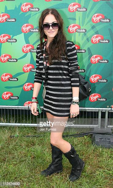 Jaime Winstonee in the Virgin Mobile Louder Lounge at the V Festival